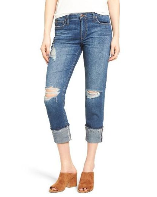 Joe's | Blue Ex-lover Markie Crop Boyfriend Jeans | Lyst