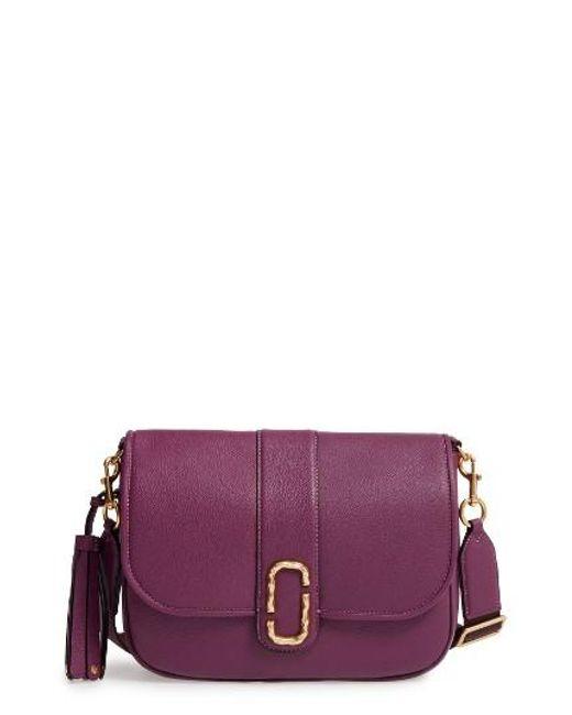 Marc Jacobs | Interlock Leather Crossbody Bag - Purple | Lyst