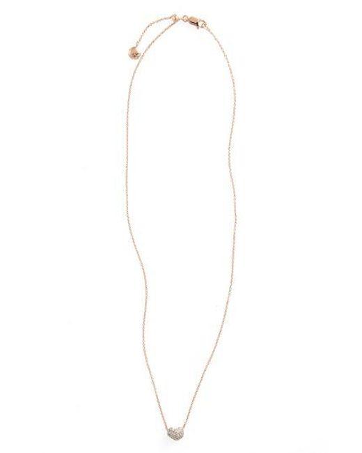 Monica Vinader | Metallic Pave Diamond Pendant Necklace | Lyst