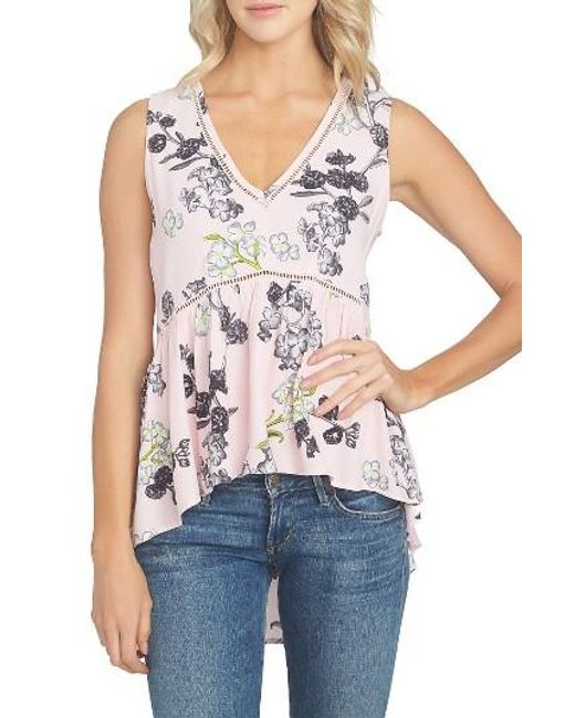 1.STATE | Multicolor Floral Print Tank | Lyst
