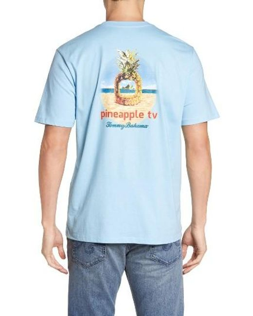 Tommy Bahama | Blue Pineapple Tv Graphic T-shirt for Men | Lyst