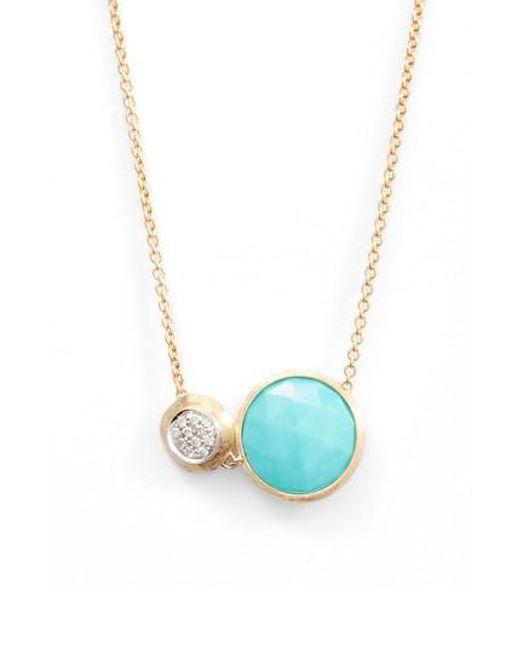 Marco Bicego | Blue Jaipur Turquoise & Diamond Pendant Necklace | Lyst