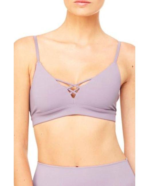 Alo Yoga | Purple Interlace Sports Bra | Lyst