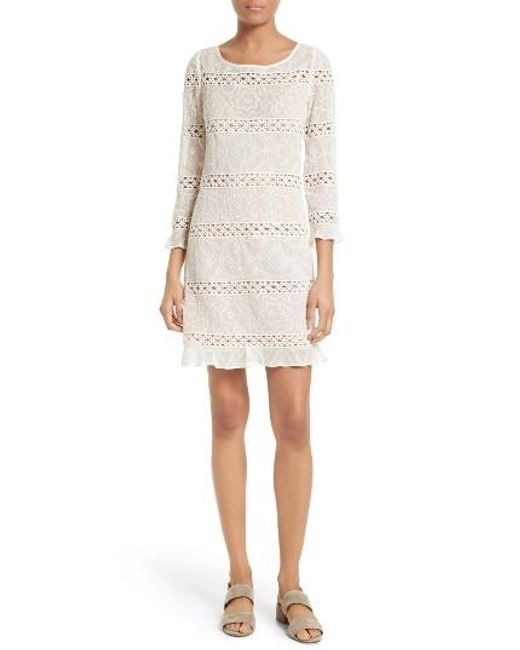 Tracy Reese   White Chantilly Lace Shift Dress   Lyst