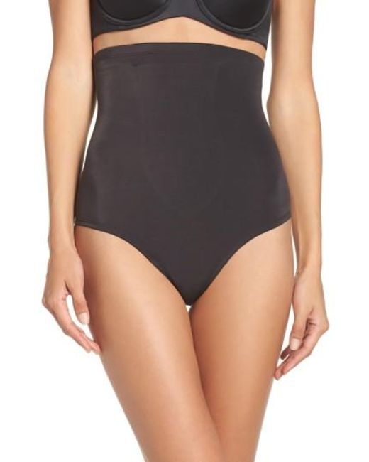 Tc Fine Intimates | Black High Waist Shaping Thong | Lyst