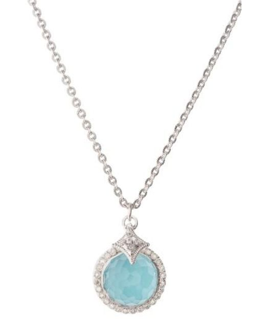 Armenta | Metallic New World Turquoise Pendant Necklace | Lyst