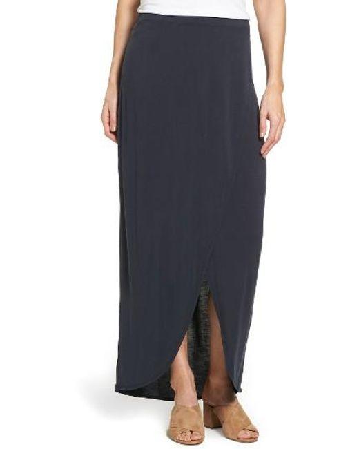 NIC+ZOE | Blue Boardwalk Knit Wrap Maxi Skirt | Lyst