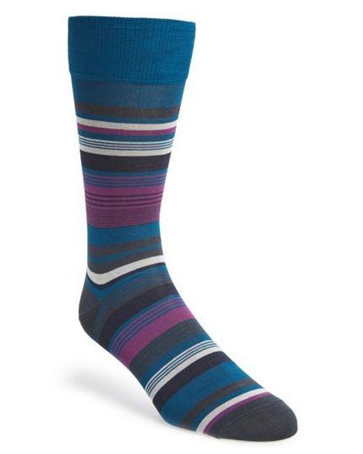 Calibrate | Blue Stripe Socks for Men | Lyst