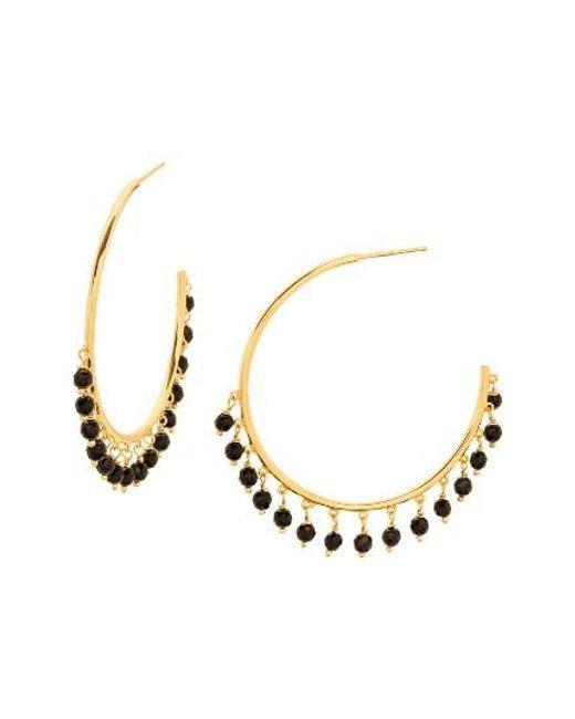 Gorjana | Metallic Sol Charm Hoop Earrings | Lyst