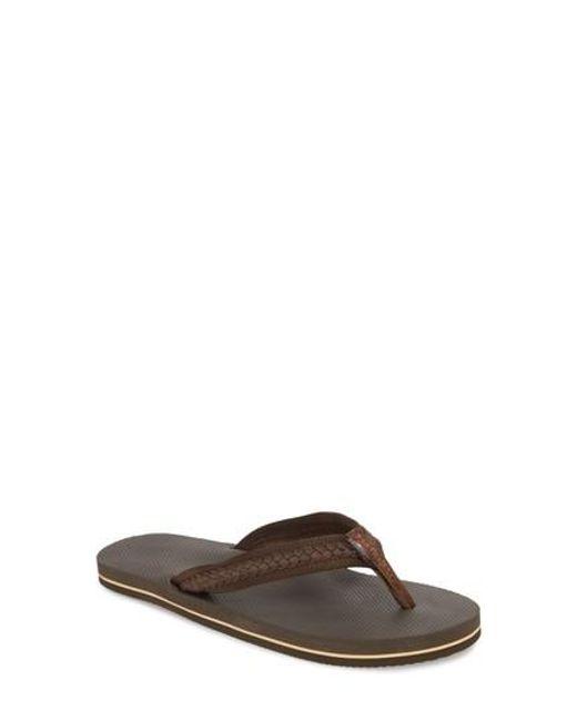 019ae41f3 Lyst - Rainbow Sandals Braided Flip Flop in Brown for Men