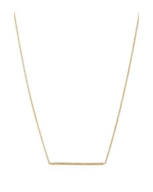 Roberto Coin   Metallic Tiny Treasures Diamond Bar Necklace   Lyst