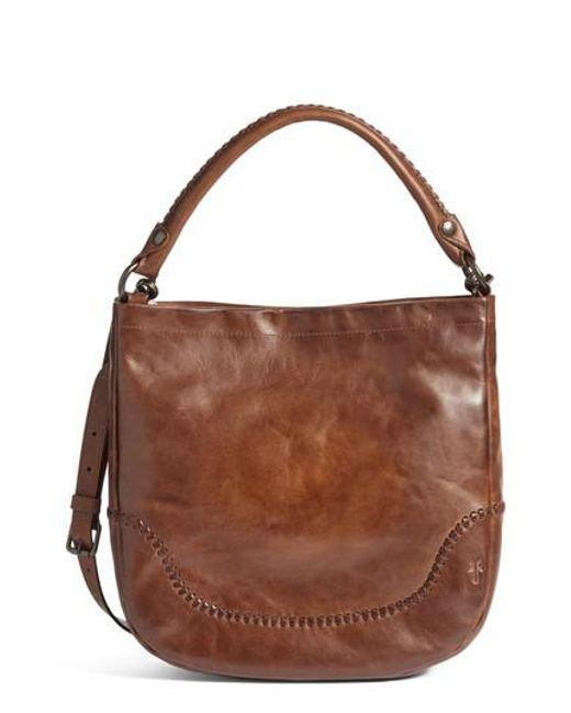 Frye | Brown Melissa Whipstitch Leather Hobo | Lyst