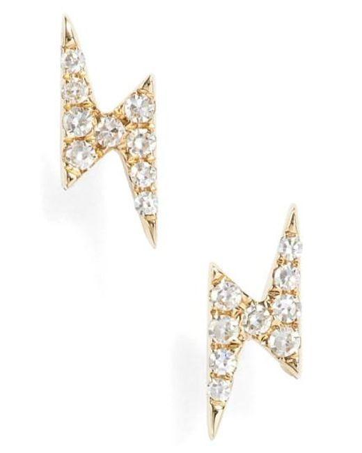 EF Collection   Metallic Diamond Stud Earrings   Lyst