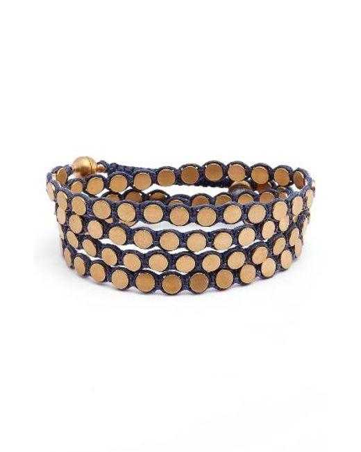 Serefina   Metallic Wrap Disk Bracelet   Lyst