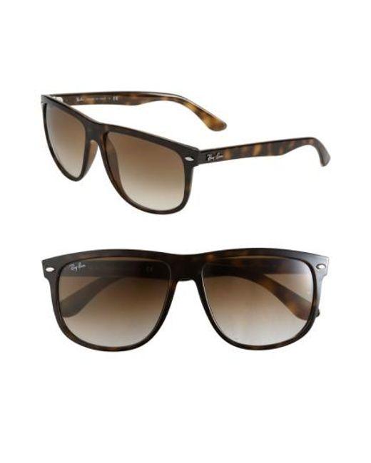 Ray-Ban | Brown Boyfriend 60mm Flat Top Sunglasses | Lyst