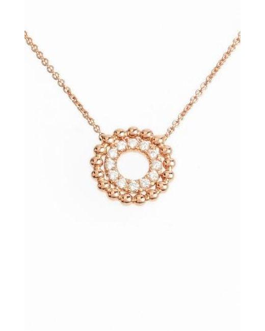 Dana Rebecca   Metallic Poppy Rae Double Disc Diamond Pendant Necklace   Lyst