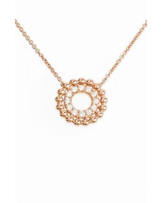 Dana Rebecca | Metallic Poppy Rae Double Disc Diamond Pendant Necklace | Lyst