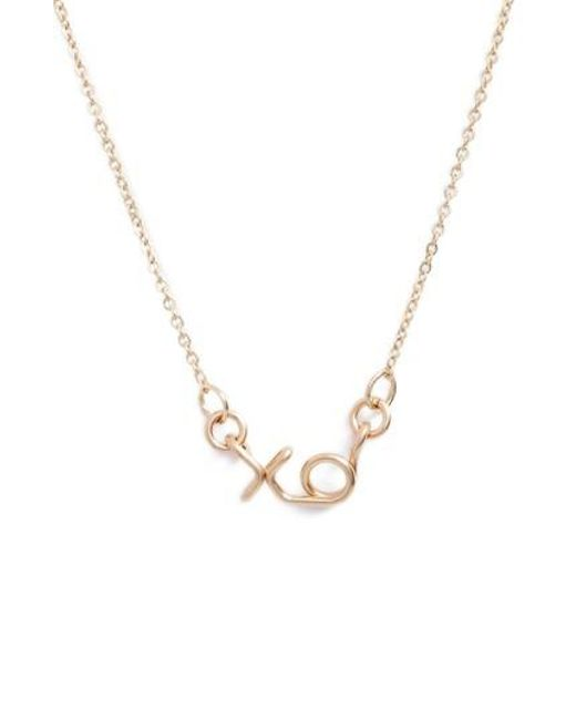 Nashelle | Metallic Mini Xo Pendant Necklace | Lyst
