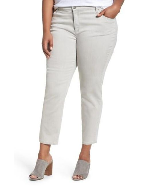 Eileen Fisher | Gray Organic Cotton Blend Skinny Jeans | Lyst