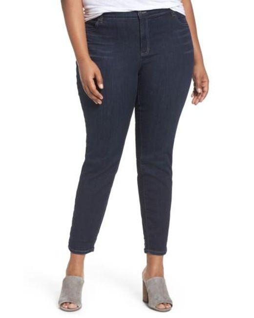 Eileen Fisher | Blue Organic Cotton Blend Skinny Jeans | Lyst