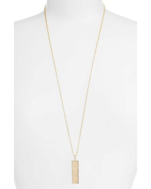 Anna Beck | Metallic Long Bar Pendant Necklace | Lyst