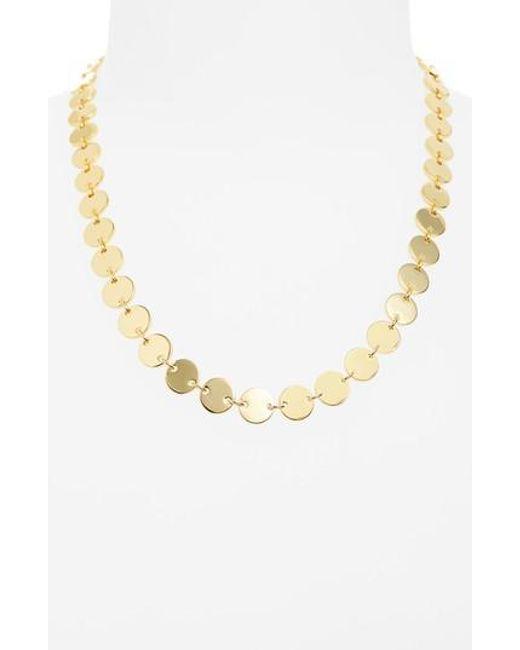Elizabeth and James | Metallic Goldie Collar Necklace | Lyst