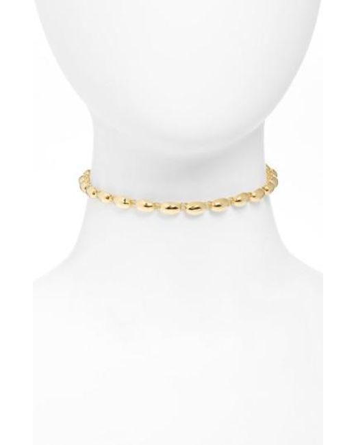 Elizabeth and James | Metallic Rosa Blake Choker Necklace | Lyst