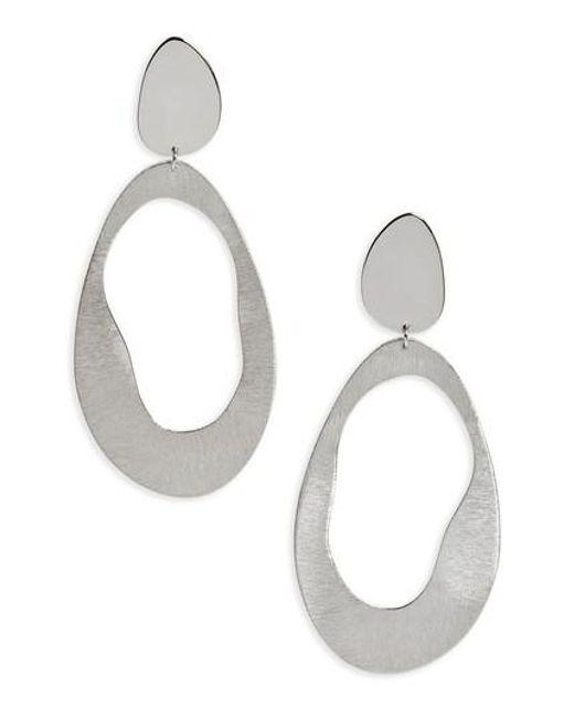 Argento Vivo   Metallic Modern Drop Earrings   Lyst