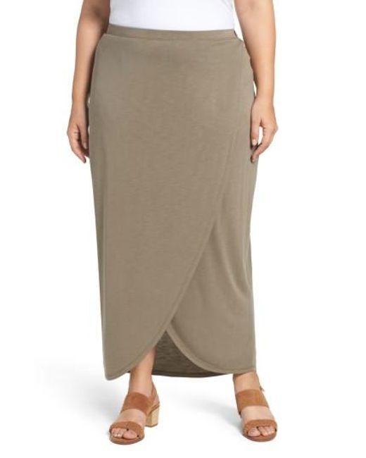 NIC+ZOE | Multicolor Boardwalk Knit Wrap Maxi Skirt | Lyst