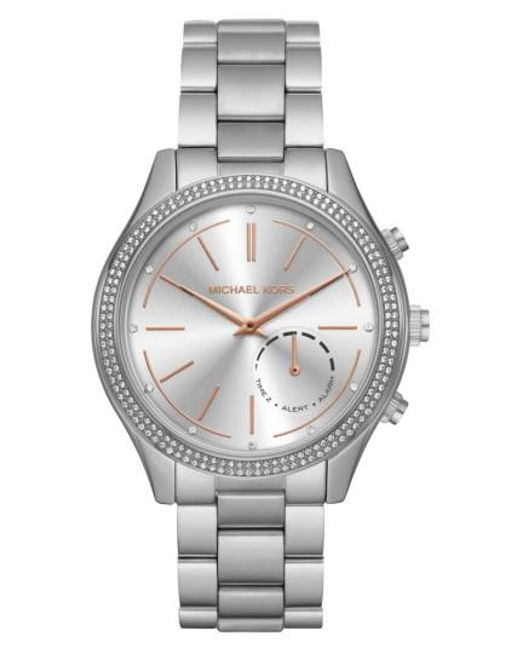 Michael Kors | Metallic Michael Kors Runway Access Smart Bracelet Watch | Lyst