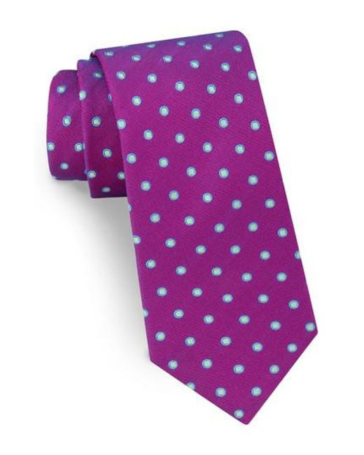 Ted Baker | Purple Dot Silk Tie for Men | Lyst