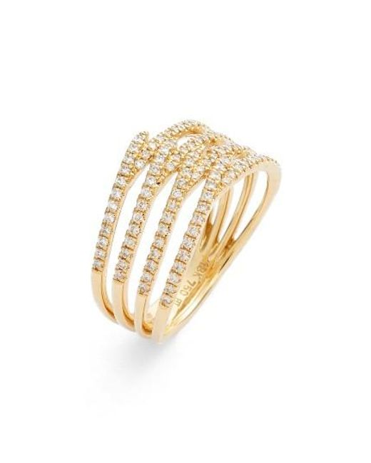 Bony Levy   Metallic Kiera Four-row Diamond Ring (nordstrom Exclusive)   Lyst