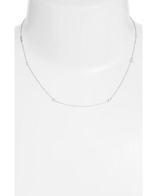 Bony Levy | Metallic Harlowe Short Diamond Station Necklace (nordstrom Exclusive) | Lyst