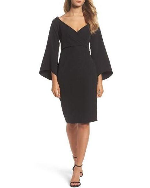 Bardot | Black Ava Bell Sleeve Dress | Lyst