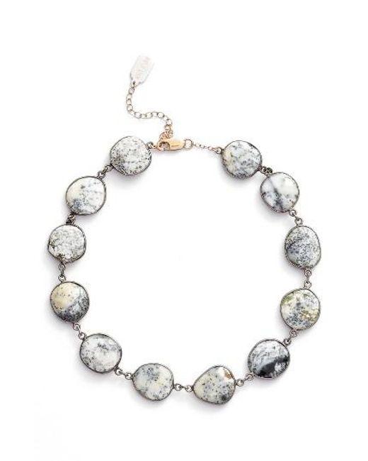 Ela Rae | Metallic Suze Semiprecious Stone Collar Necklace | Lyst