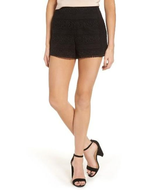Cupcakes And Cashmere | Black Cupcakes And Cakes Christine Crochet Shorts | Lyst