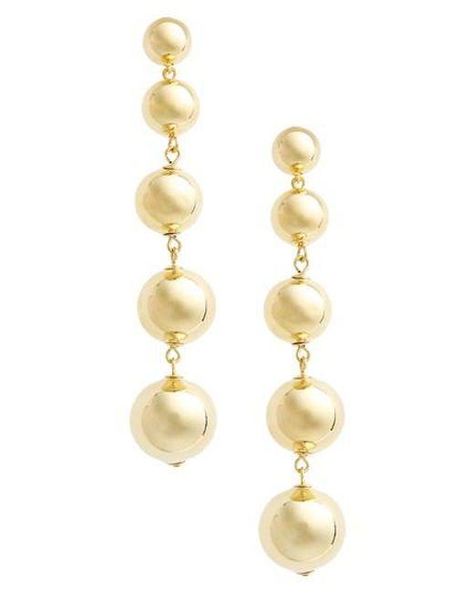 Kate Spade   Metallic Linear Statement Earrings   Lyst