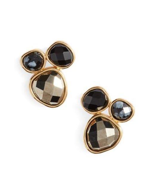 Gorjana   Metallic Lola Semiprecious Stone Stud Earrings   Lyst