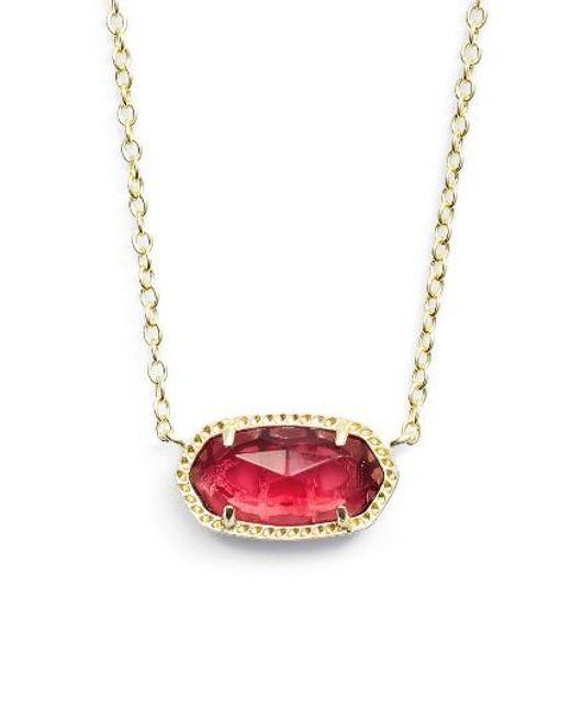 Kendra Scott | Pink Elisa Birthstone Pendant Necklace | Lyst