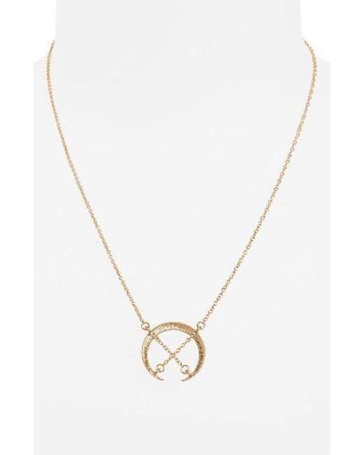 Panacea   Metallic Crisscross Pendant Necklace   Lyst