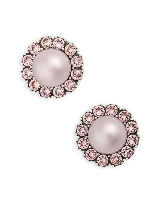 Marc Jacobs | Pink Imitation Pearl Stud Earrings | Lyst