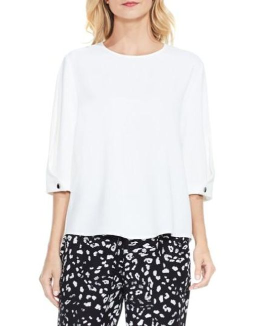 Vince Camuto | White Bubble Sleeve Blouse | Lyst