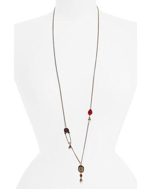 Alexander McQueen   Metallic Pendant Necklace   Lyst