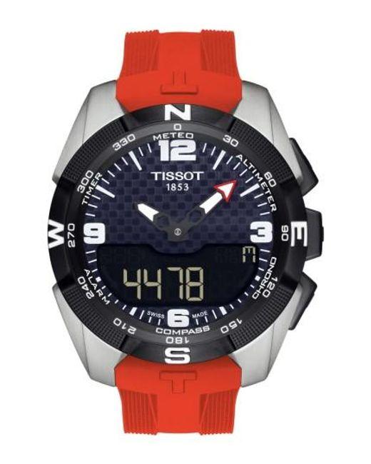 Tissot | Metallic T-touch Expert Solar Multifunction Smartwatch for Men | Lyst