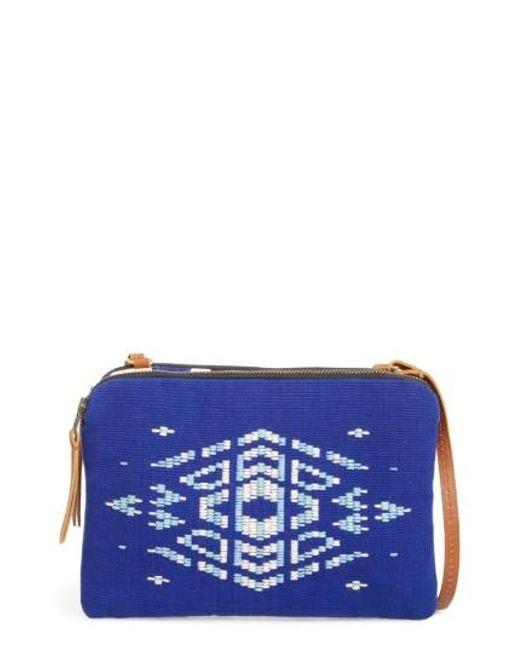 Mercado Global | Blue Andrea Canvas Crossbody Bag | Lyst