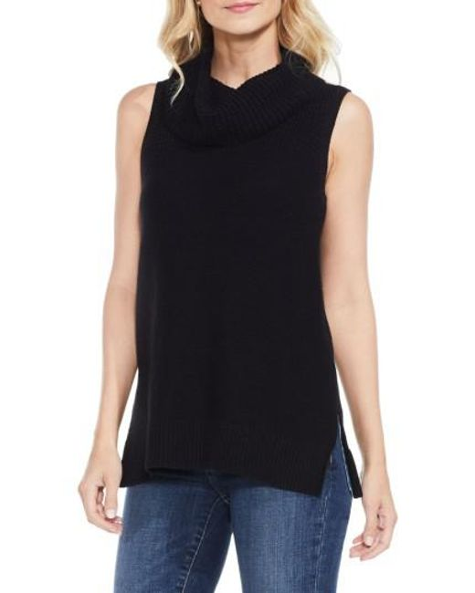 Two By Vince Camuto | Black Sleeveless Cowl Neck Sweater | Lyst