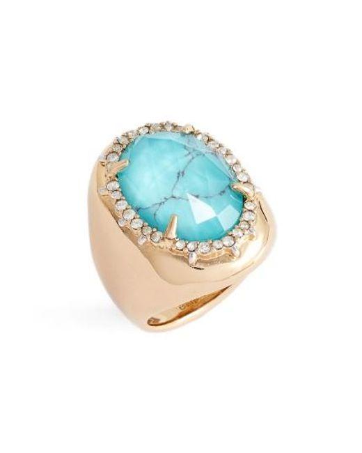 Alexis Bittar | Blue Encrusted Stone Ring | Lyst