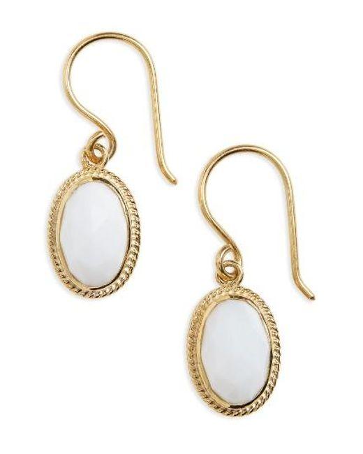 Anna Beck   Metallic White Opal Drop Earrings   Lyst