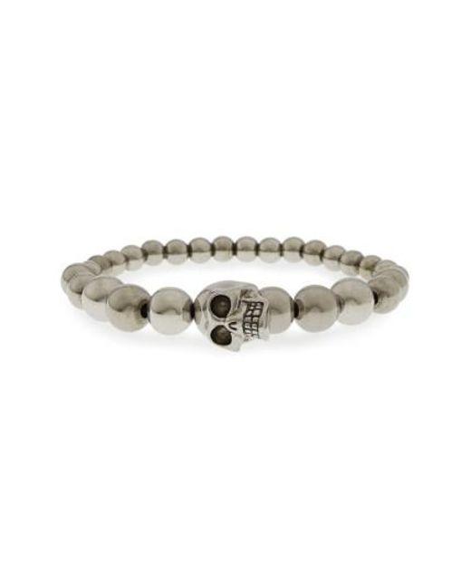 Alexander McQueen | Metallic Skull Ball Bracelet | Lyst