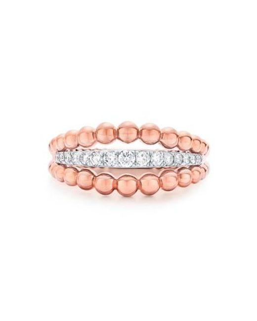 Kwiat | Pink Beaded Diamond Ring | Lyst